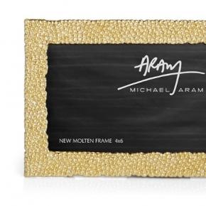 Рамки для фотографий Deluxe. Рамка для фото 10х15 см Золотые жемчужины MOLTEN GOLD