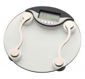 Весы напольные для ванной и сауны. Электронные напольные весы стеклянные круглые