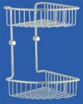 Полки для душа Сетки Полки для ванной стеклянные Полки для полотенец. Полка для душа угловая двойная Naxos Nicol