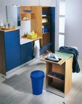 Итальянские постирочные раковины Мебель и оборудование для постирочной комнаты. Мебель для постирочной встроенная гладильная доска выкатная тумба