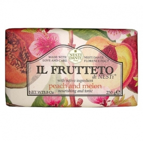 Luxury Гель для душа Мыло. Мыло NESTI DANTE IL FRUTTETO Peach and Melon Персик и Дыня 250 гр
