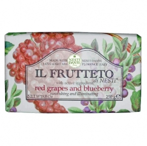 Luxury Гель для душа Мыло. Мыло NESTI DANTE IL FRUTTETO Red grapes and Blueberry Красный виноград и Голубика 250 гр