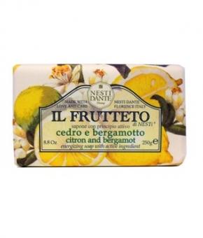 Luxury Гель для душа Мыло. Мыло NESTI DANTE IL FRUTTETO Citron and Bergamot Лимон и Бергамот 250 гр