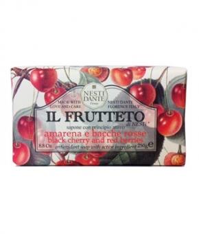 Luxury Гель для душа Мыло. Мыло NESTI DANTE IL FRUTTETO Black cherry and Red berries Черешня и красные ягоды 250 гр