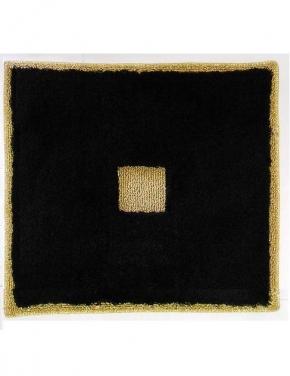 Коврики для ванной комнаты.  Коврик для ванной комнаты PIAZZA Nicol чёрный квадратный, люрекс золотой
