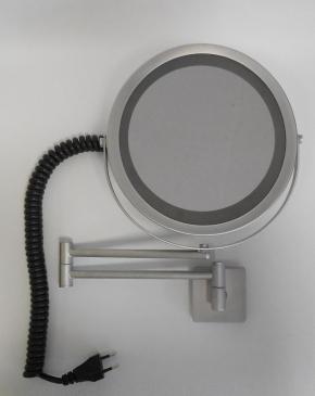 Зеркала косметические с подсветкой увеличением настенные настольные Зеркала с присосками. Косметическое зеркало с подсветкой и увеличением настенное RIZZO матовый хром