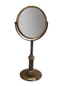 Зеркала косметические с подсветкой увеличением настенные настольные Зеркала с присосками. Зеркало косметическое Windsor PomdOr настольное бронзовое с увеличением 1х1 и 1х2 двухстороннее