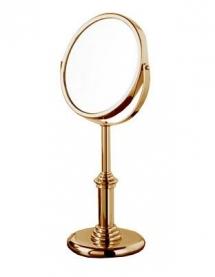 Зеркала косметические с подсветкой увеличением настенные настольные Зеркала с присосками. Зеркало косметическое Windsor PomdOr настольное (золото, хром-золото) с увеличением 1х1 и 1х2 двухстороннее