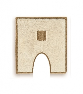 Коврики для ванной комнаты.  Коврик для ванной комнаты PIAZZA Nicol Жасмин квадратный с вырезом люрекс золотой, серебряный