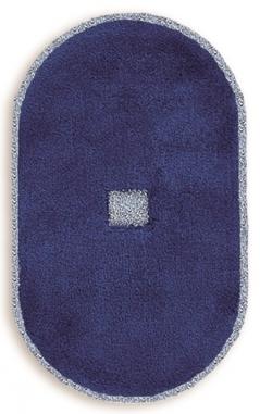 Коврики для ванной комнаты. Коврик для ванной комнаты PIAZZA Nicol Овальный синий морской люрекс золотой серебряный