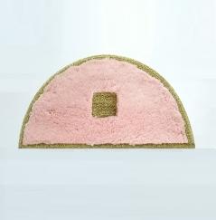 Коврики для ванной комнаты.  Коврик для ванной комнаты PIAZZA Nicol розовый полукруг люрекс золотой