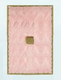 Коврики для ванной комнаты.  Коврик для ванной комнаты PIAZZA Nicol розовый прямоугольный люрекс золотой