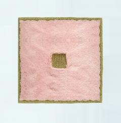 Коврики для ванной комнаты.  Коврик для ванной комнаты PIAZZA Nicol розовый квадратный люрекс золотой