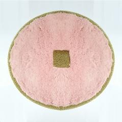 Коврики для ванной комнаты.  Коврик для ванной комнаты PIAZZA Nicol розовый круглый люрекс золотой