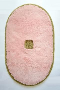 Коврики для ванной комнаты.  Коврик для ванной комнаты PIAZZA Nicol розовый овальный люрекс золотой