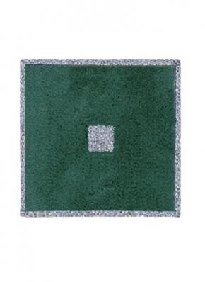 Коврики для ванной комнаты.  Коврик для ванной комнаты PIAZZA Nicol зелёный люрекс серебряный квадратный