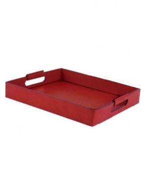 Аксессуары и Мебель для дома. Поднос лоток кожаный Vola красный
