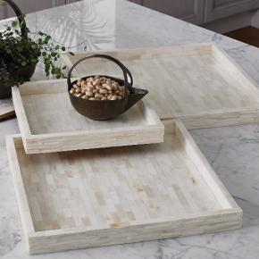 Аксессуары и Мебель для дома. Поднос кость Chiseled Bone Tray