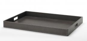 Аксессуары и Мебель для дома. Поднос кожаный Black прямоугольный