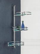 . Decor Walther Полка стеклянная для ванной тройная круглая