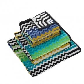 Полотенца хлопковые Deluxe. Комплект полотенец Stan зеленый/синий