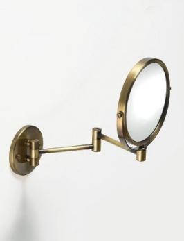 Зеркала косметические с подсветкой увеличением настенные настольные Зеркала с присосками. Зеркало косметическое Windsor PomdOr настенное бронзовое двухстороннее с увеличением 1х и 1х2