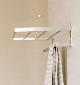 Полки для душа Сетки Полки для ванной стеклянные Полки для полотенец. Полка для полотенец Metric-Inox PomdOr