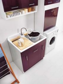 Итальянские постирочные раковины Мебель и оборудование для постирочной комнаты. Мебель для постирочной постирочная раковина двойная Colavene TW Melanzana