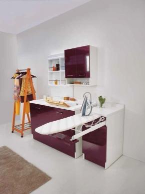 Итальянские постирочные раковины Мебель и оборудование для постирочной комнаты. Мебель для постирочной встроенная гладильная доска тумба Melanzana Colavene