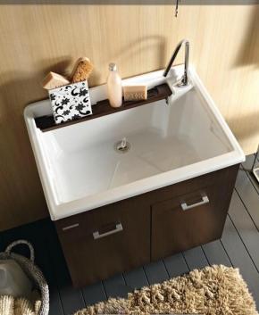 Итальянские постирочные раковины Мебель и оборудование для постирочной комнаты. Глубокая раковина для стирки мебель для постирочной Colavene Wenge LM