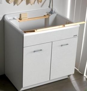 Итальянские постирочные раковины Мебель и оборудование для постирочной комнаты. Постирочная мебель TM Colavene Глубокая раковина для стирки большая белая
