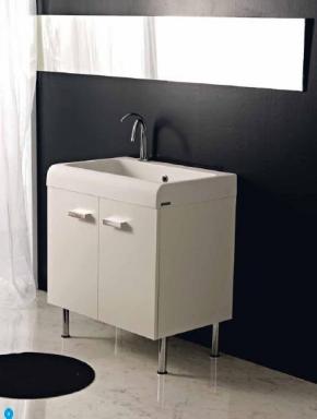 Итальянские постирочные раковины Мебель и оборудование для постирочной комнаты. Глубокая раковина для стирки мебель для постирочной Skip Colavene белый