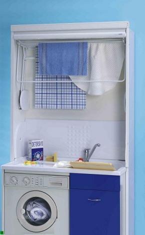 Итальянские постирочные раковины Мебель и оборудование для постирочной комнаты. Мебель для постирочной Colavene Сушилка складная для белья