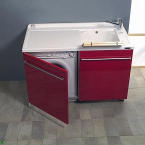 Итальянские постирочные раковины Мебель и оборудование для постирочной комнаты. Мебель постирочная раковина DX Colavene Active Wash, красная