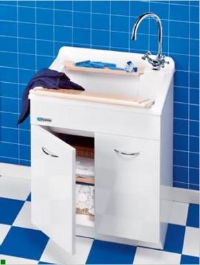 Итальянские постирочные раковины Мебель и оборудование для постирочной комнаты. Раковина мебель для постирочной SW Colavene белый