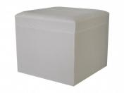 Банкетки для ванной Пуфы Интерьерные Табуреты для ванной и душа Откидные сиденья. Пуф экокожа светлый Tortora с корзиной для белья квадратный