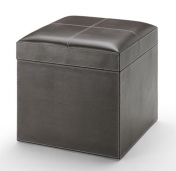 Вёдра с педалью Дровницы Вёдра. Пуф кожаный Brown квадратный с мягким сиденьем с корзиной для белья коричневый