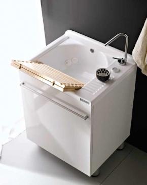 Итальянские постирочные раковины Мебель и оборудование для постирочной комнаты. Постирочная раковина белая Colavene Active Wash