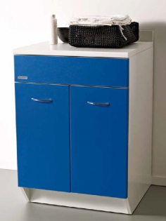 Итальянские постирочные раковины Мебель и оборудование для постирочной комнаты. Мебель для постирочной Base Colavene тумба синий фасад