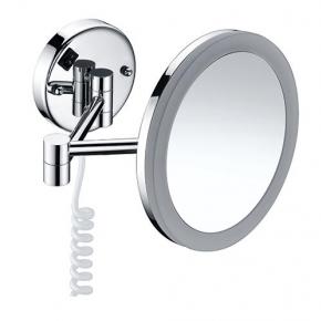 Зеркала косметические с подсветкой увеличением настенные настольные Зеркала с присосками. Зеркало настенное с LED подсветкой 3-х кратным увеличением K-1004