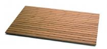 Мебель и Аксессуары для ванной из натурального дерева, Раттана и Бамбука. Деревянная решётка для душа натуральный Тик