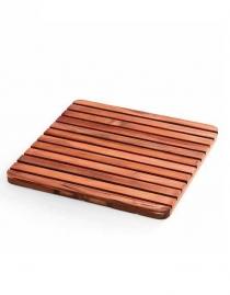 Деревянные коврики и решётки для душа и ванной комнаты. Деревянная решётка для душа и ванны квадратная Тиковая