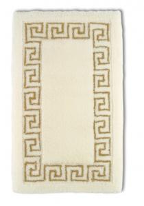Коврики для ванной комнаты. Коврик для ванной комнаты жасмин с греческим декором люрекс золотой