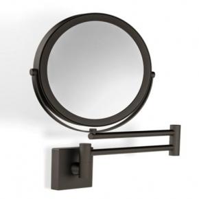 Зеркала косметические с подсветкой увеличением настенные настольные Зеркала с присосками. Зеркало косметическое двухстороннее настенное с увеличением 1х1 и 1х5 Wand Bronze Dunkel Decor Walther