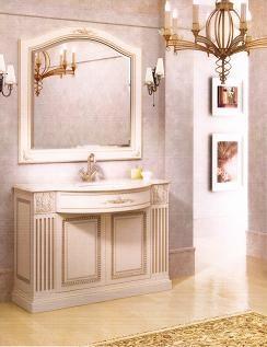 Мебель для ванной комнаты. Мебель для ванной умывальник с зеркалом ROXANA