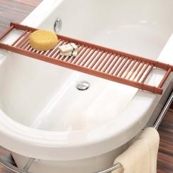 Полки для душа Сетки Полки для ванной стеклянные Полки для полотенец. Полка для ванны деревянная светлая Бук ENHOLZ