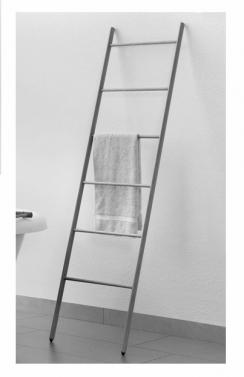 Полки для душа Сетки Полки для ванной стеклянные Полки для полотенец. Деревянный полотенцедержатель лестница тёмный ENHOLZ