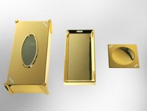 Аксессуары для ванной с кристаллами Swarovski. Салфетница настольная с кристаллами Swarovski Золотая