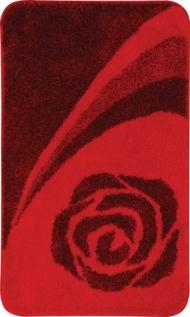 Коврики для ванной комнаты. Коврик для ванной комнаты Nicol Scarlet декор красная роза