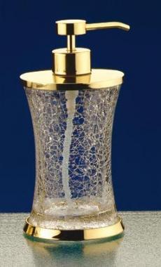 Аксессуары для ванной настольные. SPLIT Nicol настольные аксессуары для ванной кракелюрное стекло Дозатор золотой